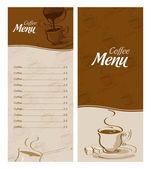 Coffee menu card for different types of coffee — Stock Vector