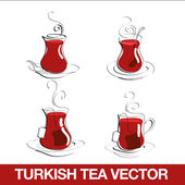 Turkish Tea Cup — Stock Vector
