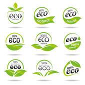 Ecology icon set. Eco-icons — Stock Vector