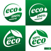 Ecology icon set. Eco-icons — Stock Vector