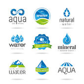 Water design elements. Water icon — Stock Vector