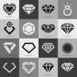 Diamond vector icons set — Stock Vector #41100059