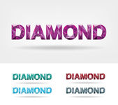 Diamond text — Vettoriale Stock