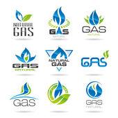 Gas industry symbols-icon — Stock Vector