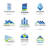 Building icon set — Stock Vector