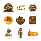 Beer icon set — Stock Vector