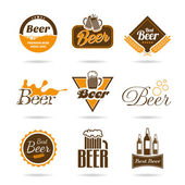 Bier pictogrammenset — Stockvector
