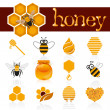 Honey icon set — Stockvector  #45729865
