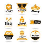 Conjunto de iconos de miel — Vector de stock