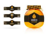 Honey banner - sticker design — Stock Vector