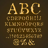 Beer, Honey and Caramel Alphabet Upper Case — Stock Vector
