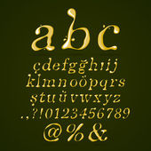Olive oil alphabet lower case italic — Stock Vector