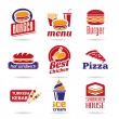 Fast food icon set — Stock Vector #46647649