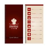 Restaurant or cafe menu — Stock Vector