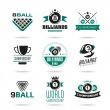 Billiards and snooker icons set - 2 — Stock Vector #47930359