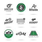 Soccer icon set - 3 — Stock Vector