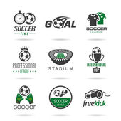 Soccer icon set - 2 — Stock Vector