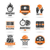 Basketball icon set - 3 — Stock Vector