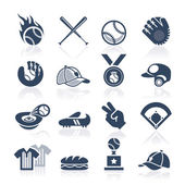 Baseball icon set — Stock Vector