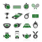 Tennis icon set — Stock Vector