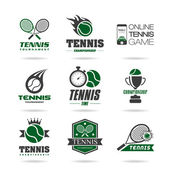 Tennis icon set — Stok Vektör