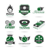 Tennis icon set — Stockvector
