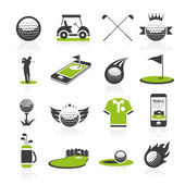 Golf icon set — Stock Vector