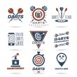 Darts icon set — Stock Vector #50175937