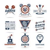 Darts icon set — Stockvektor