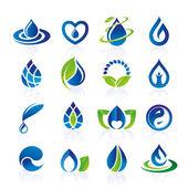 Water icon set — Stock Vector