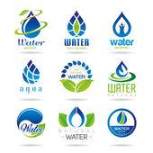 Water icon set — Stockvector
