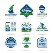 Bicycle icon set - 3 — Stock Vector
