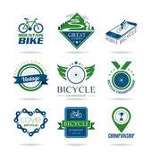 Bicycle icon set - 2 — Stock Vector