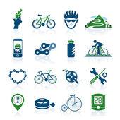 Bicycle icon set — Stock Vector