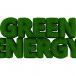 Green Energy Grass Word — Stok Fotoğraf #40602259