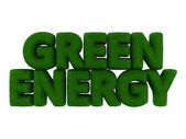Green Energy Grass Word — Stock Photo
