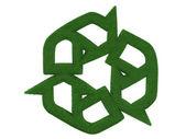 Recykling symbol trawa — Zdjęcie stockowe