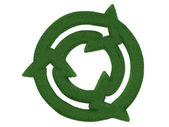 Grass Recycling Symbol — Stock Photo