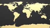 Hi-Tech World Map — Stock Photo