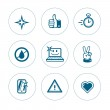 Постер, плакат: Set of icons of purity for web interface or online store of cleaning products