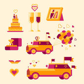 Icon set for a wedding celebration — Stock Photo