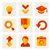 Set of icons of education — 图库照片