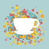 Abstrakt bakgrund med en kopp kaffe — Stockvektor