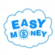 Stockvektor : Cloud with words easy money
