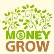 Stockvektor : Text money grow