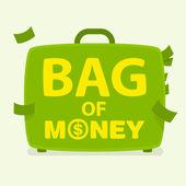 Vector bag of money — Stock Vector