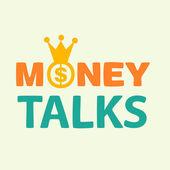 Money talks text — Stock Vector