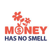 Text money does not smell — Stock Vector