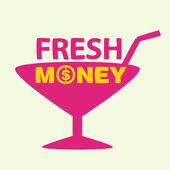 Text fresh money — Stock Vector