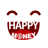 Text happy money — Stock Vector